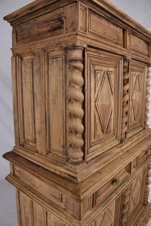 Early 19th Century French Bleached Wood Buffet For Sale 2