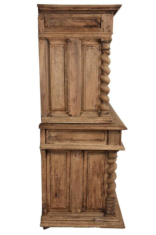 Renaissance Early 19th Century French Bleached Wood Buffet For Sale