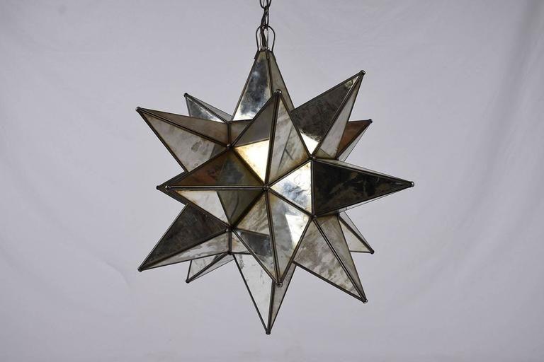 20th Century Starburst Mirrored Chandelier or Pendant For Sale