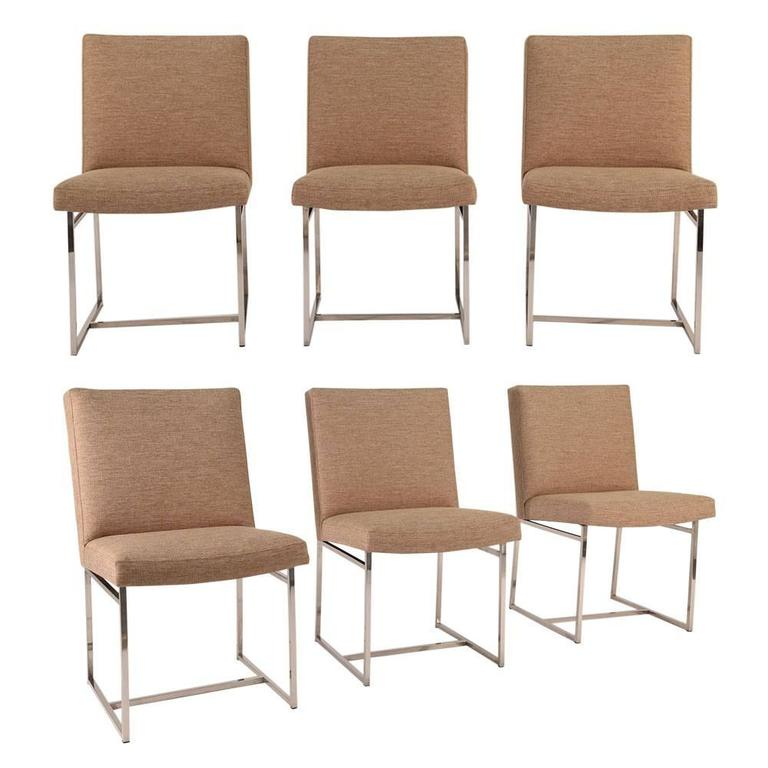 Set of Six Mid-Century Modern-Style Dining Chairs by Milo Baughman