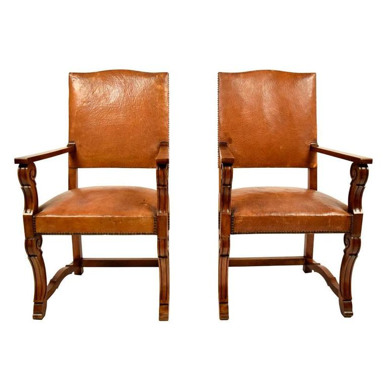 old armchairs for sale antique pair of leather armchairs for at 1stdibs 3617