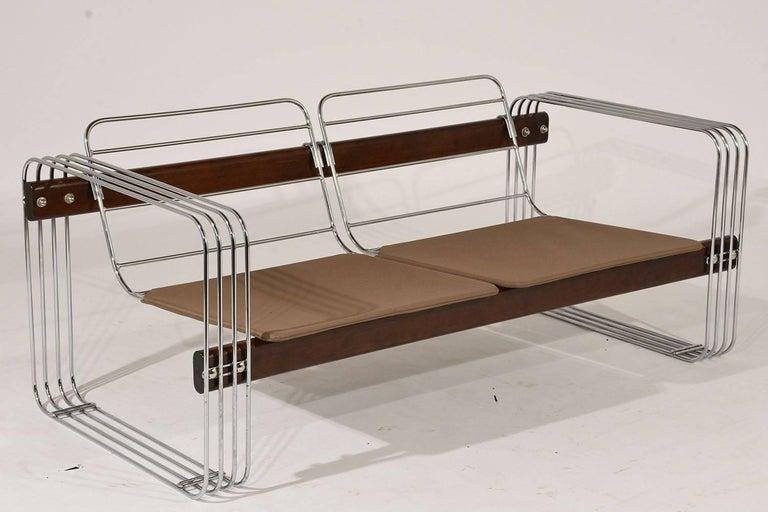 Steel Ascona Sofa by Heinz Meier for Landes For Sale