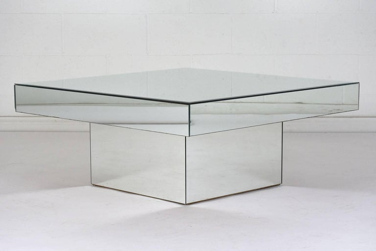 Modern Style Mirrored Coffee Table For Sale At 1stdibs