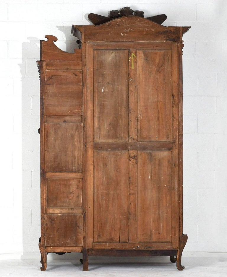 early 20th century art nouveau armoire in the manner of louis majorelle for sale at 1stdibs. Black Bedroom Furniture Sets. Home Design Ideas