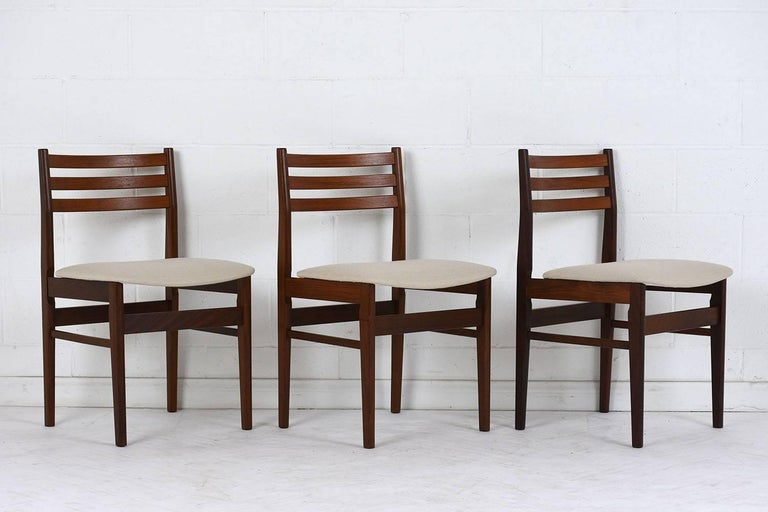 Mid-Century Modern Set of Six Danish Rosewood Dining Chairs For Sale