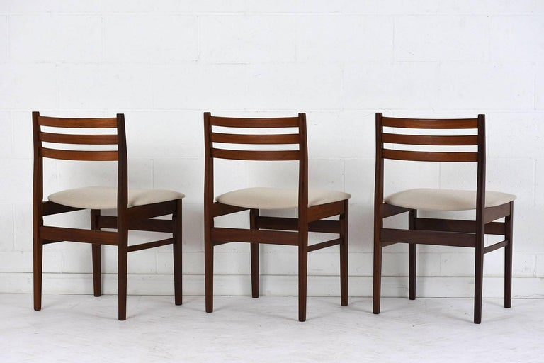 Stained Set of Six Danish Rosewood Dining Chairs For Sale