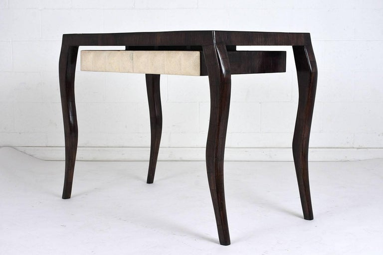 Carved R & Y Augousti Modern-Style Dressing Table and Bench Set For Sale