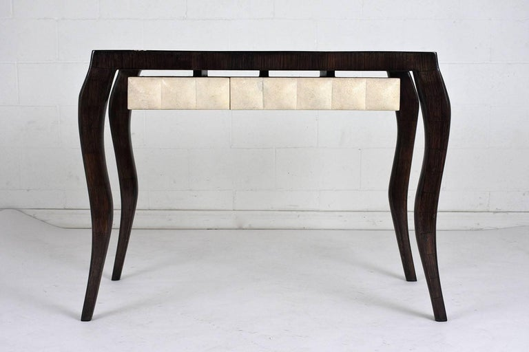 R & Y Augousti Modern-Style Dressing Table and Bench Set In Excellent Condition For Sale In Los Angeles, CA