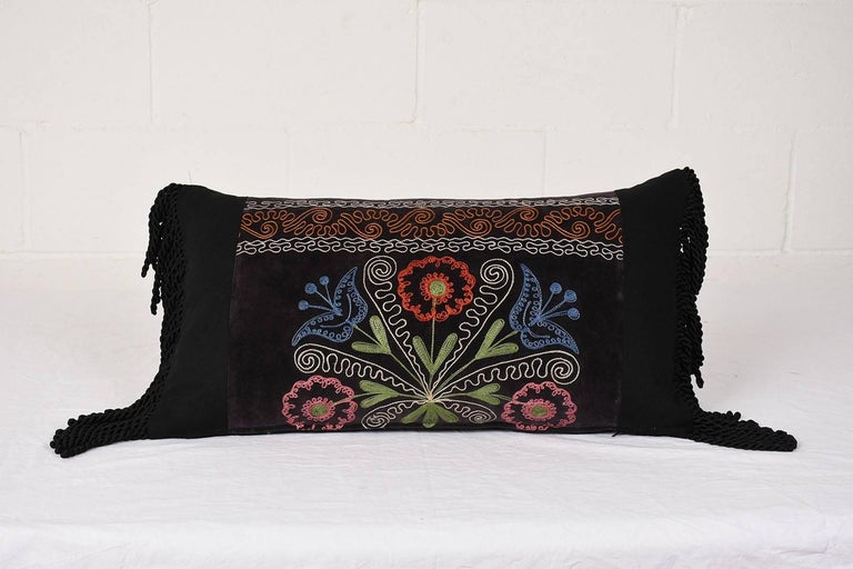 Pair Of Antique Suzani Fabric Throw Pillows For Sale At 40stdibs Adorable Fabric For Decorative Pillows
