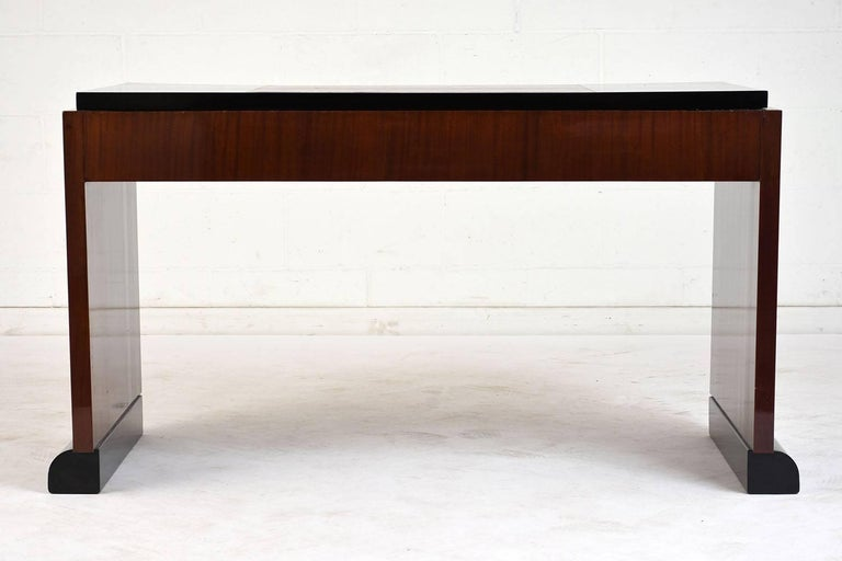 French Modernist Mahogany Desk At 1stdibs