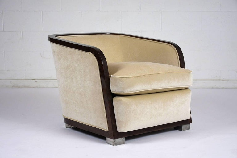 Pair of Art Deco Club Chairs For Sale 4