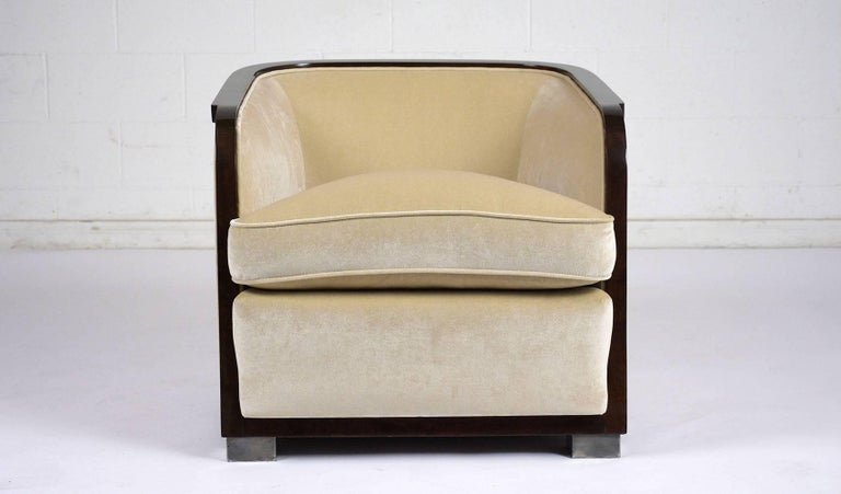 Pair of Art Deco Club Chairs For Sale 1