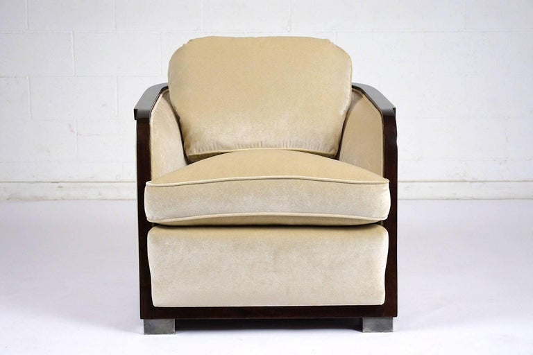 Pair of Art Deco Club Chairs For Sale 2