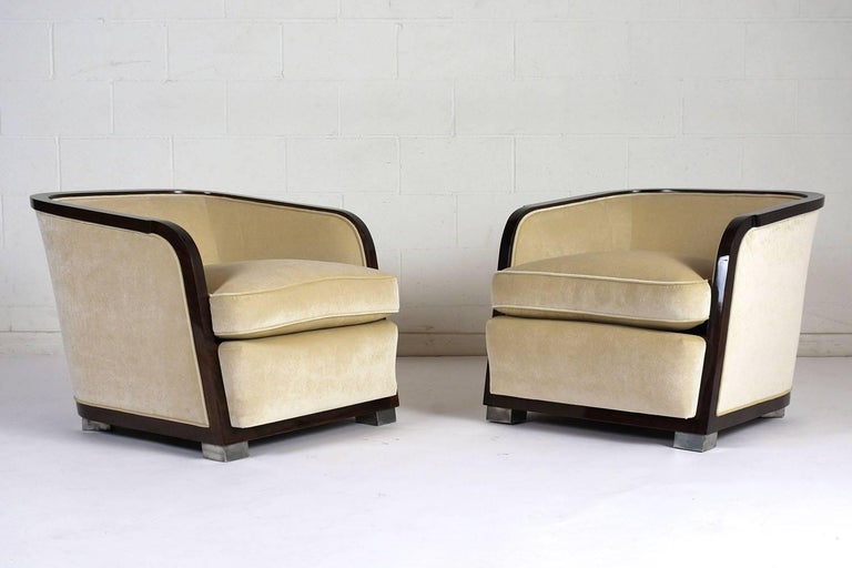 Steel Pair of Art Deco Club Chairs For Sale