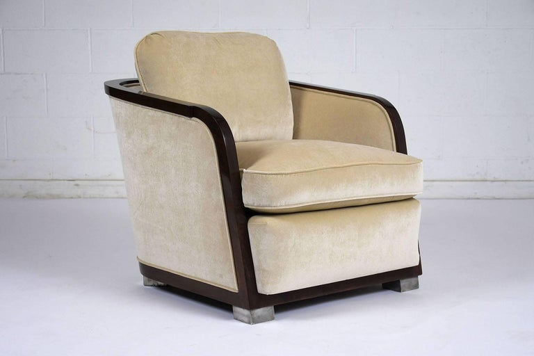 Pair of Art Deco Club Chairs For Sale 3