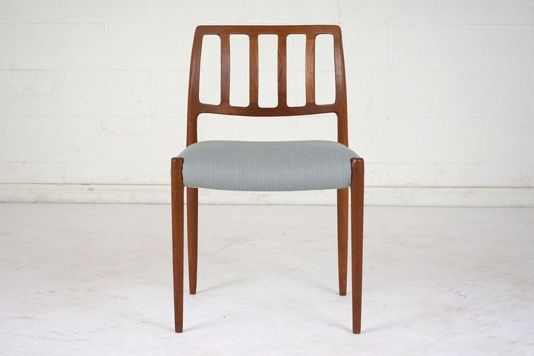 Danish Set of Six Mid-Century Modern Niels Otto Moller Dining Room Chairs For Sale