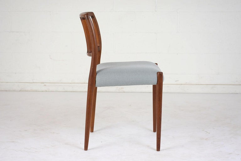 Set of Six Mid-Century Modern Niels Otto Moller Dining Room Chairs In Excellent Condition For Sale In Los Angeles, CA