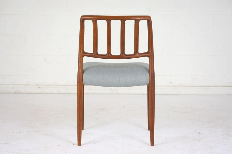 Mid-20th Century Set of Six Mid-Century Modern Niels Otto Moller Dining Room Chairs For Sale