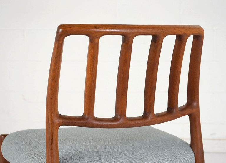 Wood Set of Six Mid-Century Modern Niels Otto Moller Dining Room Chairs For Sale