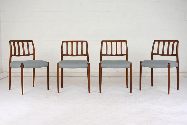 Set of Six Mid-Century Modern Niels Otto Moller Dining Room Chairs For Sale 3
