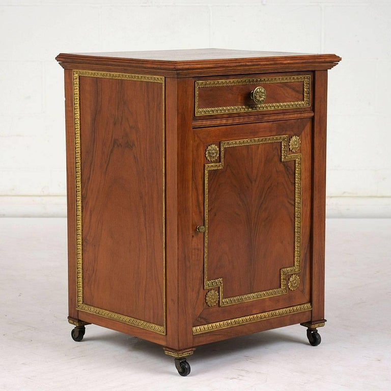 Carved 19th Century French Louis XVI-Style Nightstand For Sale