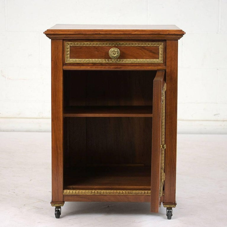 Wood 19th Century French Louis XVI-Style Nightstand For Sale
