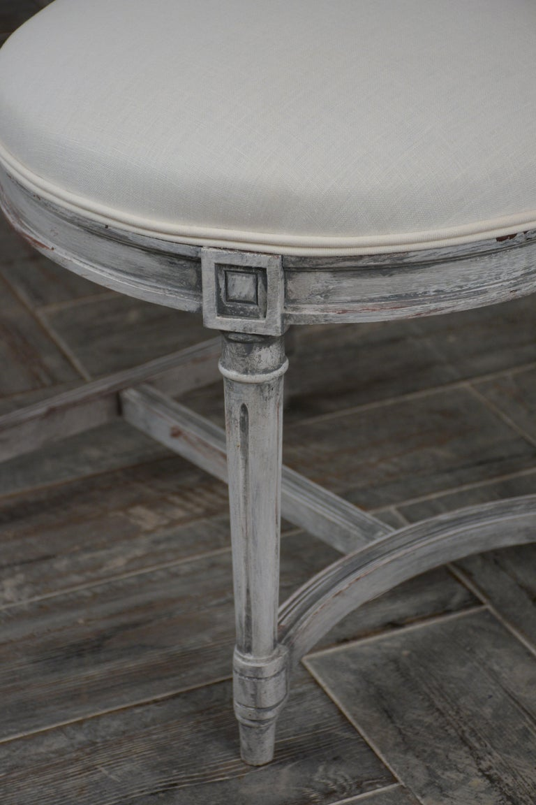 Set of Six Distressed Finish Regency Style Dining Chairs For Sale 3