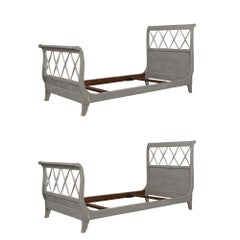 Pair of Newly Painted French Empire-Style Bed Frames