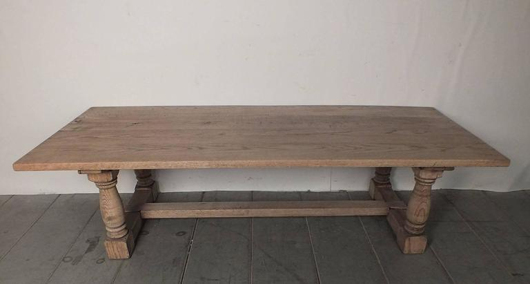 Vintage 1950s Bleached Wood Coffee Table 2