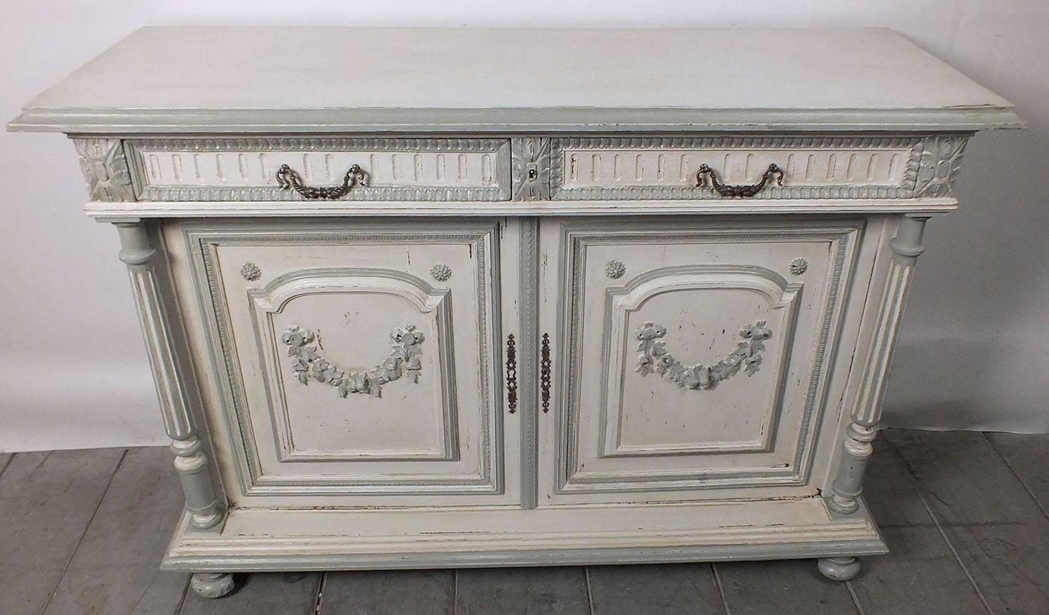19th century french painted sideboard or buffet at 1stdibs for Painted buffet sideboard
