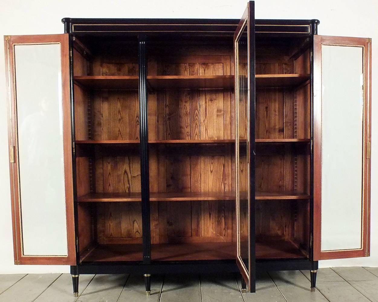 Fantastic French Walnut Wood Lyonnaise Bookcase Offered By Le Louvre French