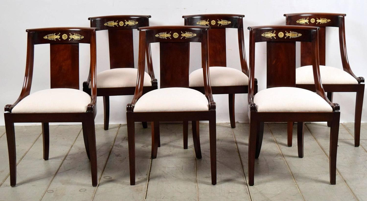 Set of 12 French Antique Empire Dining Chairs at 1stdibs : C50434z from www.1stdibs.com size 1500 x 821 jpeg 127kB
