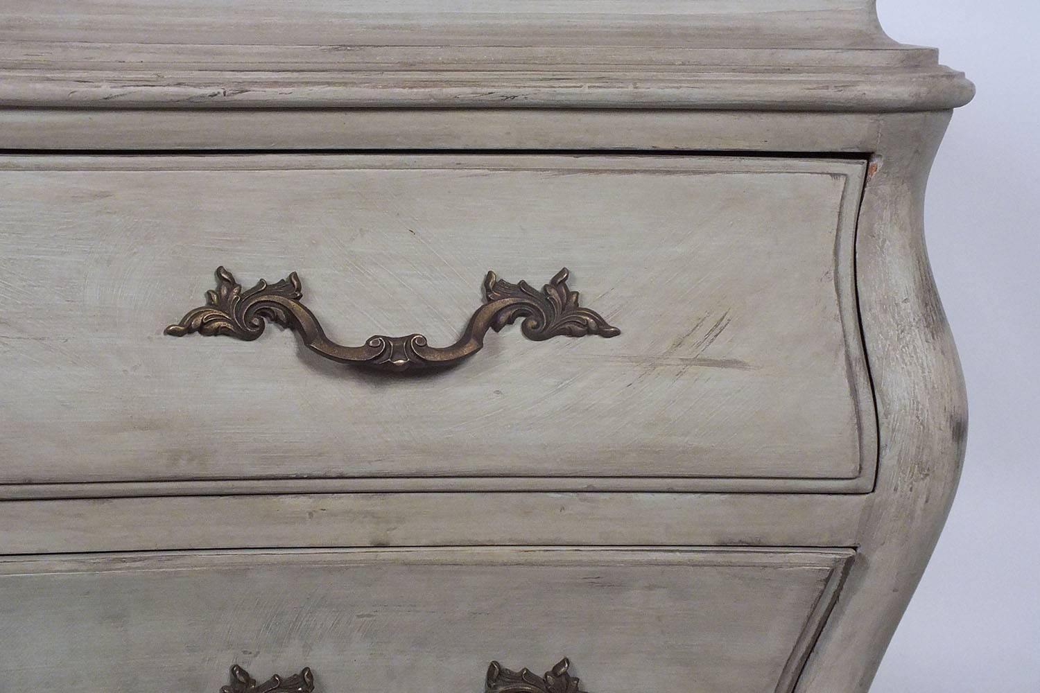 Pair Of Louis Xv Style Painted Chest Of Drawers For Sale