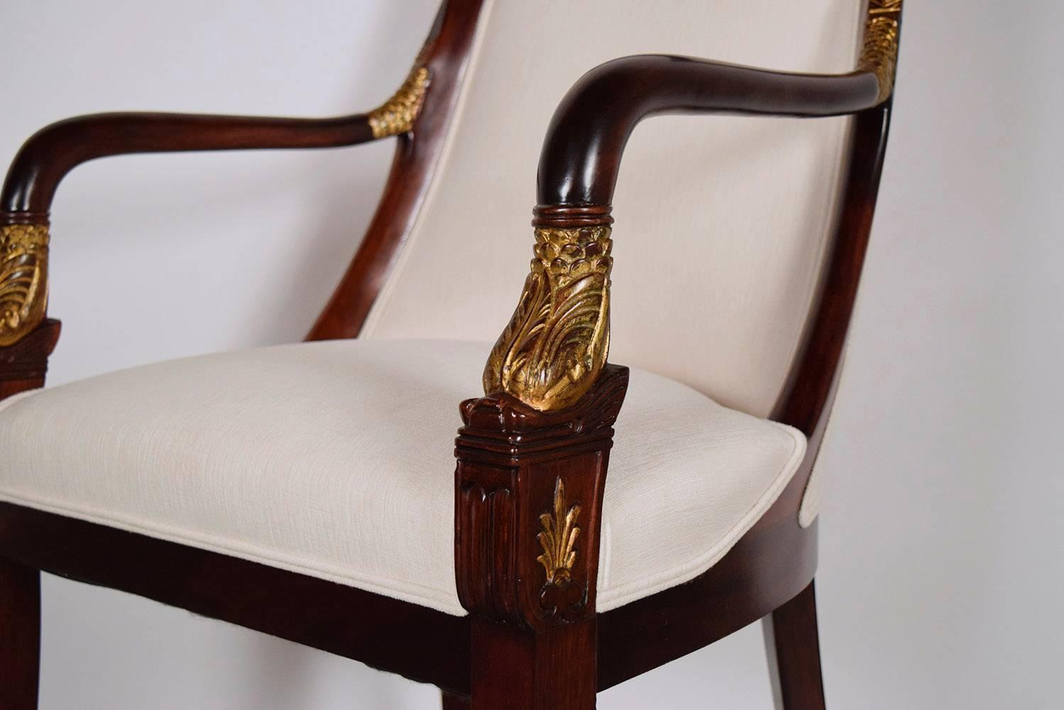 Set Of 12 Dining Mahogany Chairs Regency Style For Sale At 1stdibs