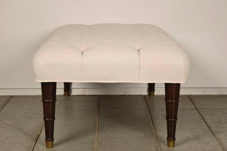 vintage hollywood regency style tufted bench for sale at