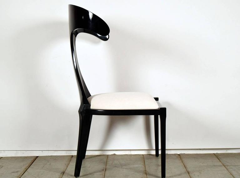 Set of Two Modern Lacquered Italian Chairs In Good Condition For Sale In Los Angeles, CA