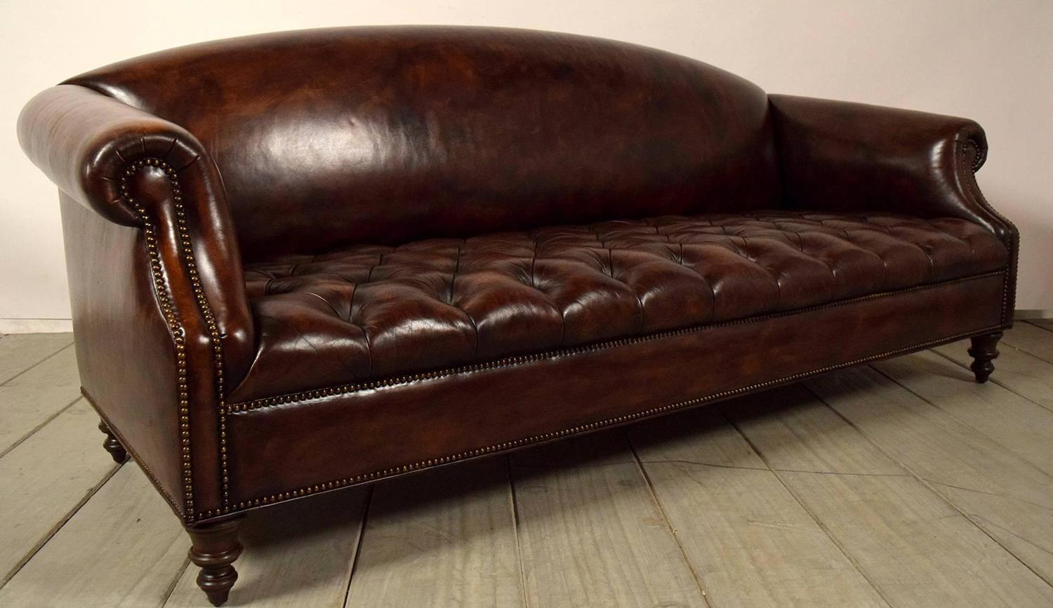vintage chesterfield tufted leather sofa at 1stdibs. Black Bedroom Furniture Sets. Home Design Ideas
