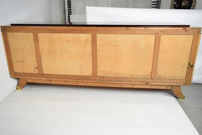 French Marquetry Art Deco Four-Door Mahogany Buffet 10