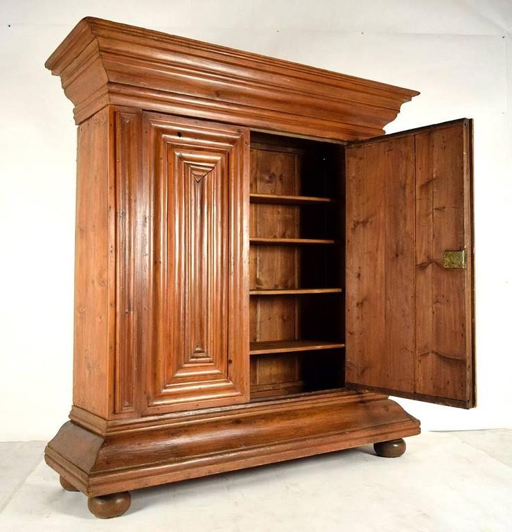 This Large 1880u0027s German Schrank Armoire Is Made From Solid Pine Wood With  Its Original Light
