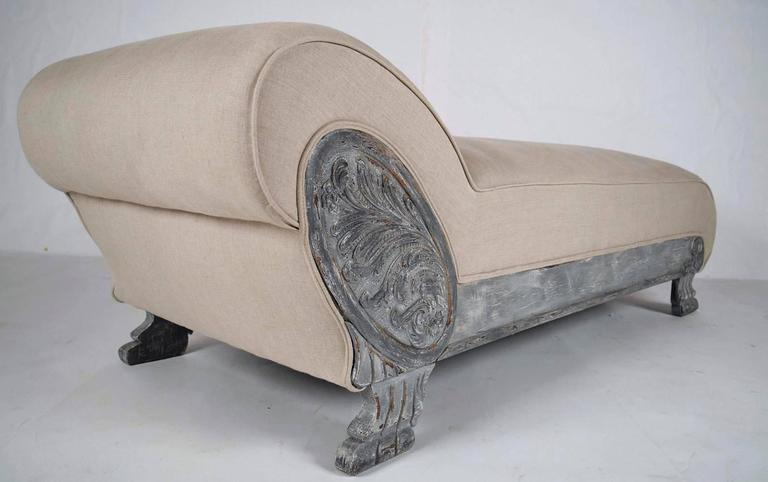 Vintage painted empire chaise longue at 1stdibs for Antique chaise longue for sale