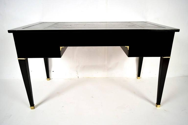 French Empire Ebonized Desk with Leather-Top 8