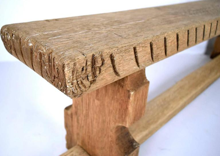 Other 19th Century English Bleached Oak Hall Bench For Sale