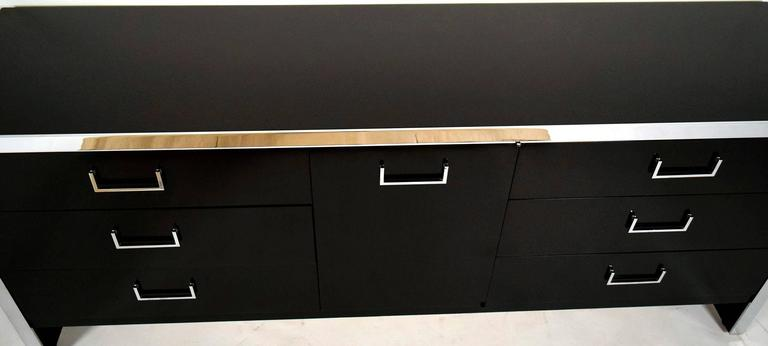 Mid-Century Modern Chrome Credenza or Chest of Drawers For Sale 1