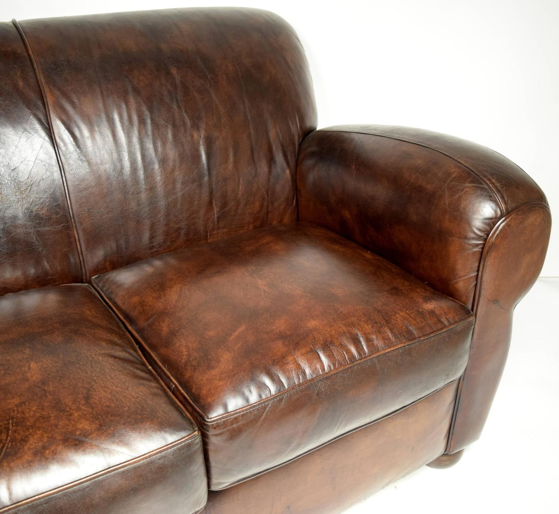 pics of distressed leather sofa | 1970's Vintage Club Distressed Leather Sofa For Sale at ...