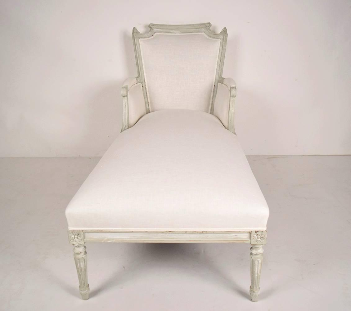 French antique louis xvi chaise lounge for sale at 1stdibs for Antique chaise for sale