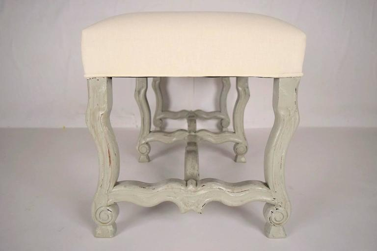 French Provincial 1970s French Painted Provincial-Style Bench For Sale