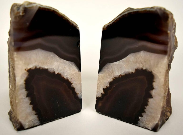 20th Century Pair of Organic Amethyst Bookends For Sale