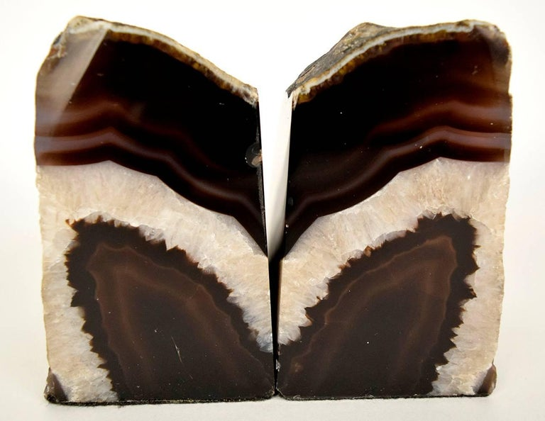 Pair of Organic Amethyst Bookends In Excellent Condition For Sale In Los Angeles, CA