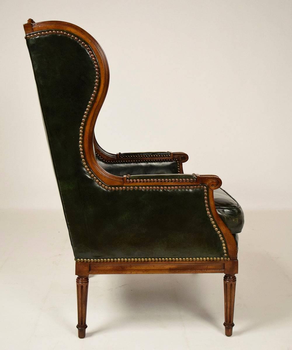 1960s Missoni Wingback Chair At 1stdibs: Vintage Hickory Leather Wingback Chair For Sale At 1stdibs