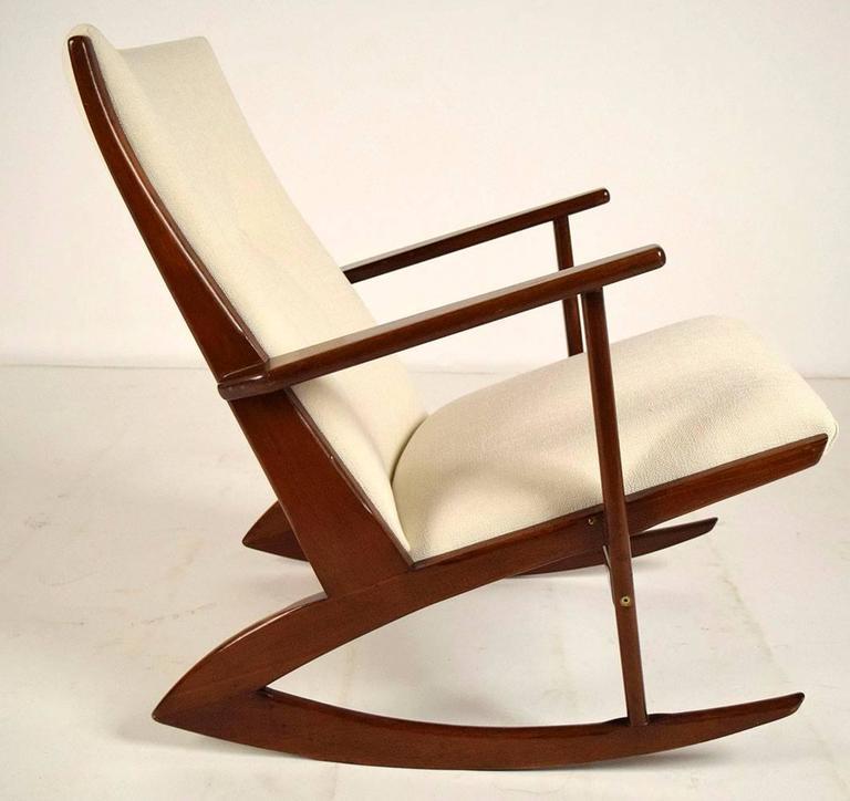 Boomerang Rocking Chair by Søren Georg Jensen for Kubus, 1960s 4